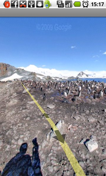 Antarctica on Google Maps of Android handset